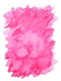Struttura viola rosa di forma del quadrato del bordo approssimativo della pittura di colore di acqua Fotografia Stock Libera da Diritti