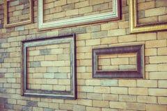 Struttura vuota della foto sulle strutture del muro di mattoni Immagine Stock