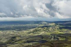 Strutturato si rannuvola l'area di Lakagigar, Islanda Immagini Stock