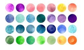 Strutture acquerelle del cerchio pacchetto Mega-utile per Fotografia Stock