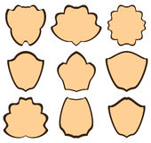 Strutture araldiche di Brown - insieme Royalty Illustrazione gratis