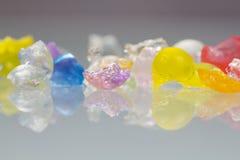 Strutture astratte delle palle rotte della gelatina con le riflessioni Fotografia Stock