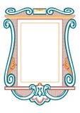 Strutture barrocco ed elementi decorativi - insegna d'annata con il nastro illustrazione vettoriale