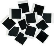 Strutture in bianco della polaroid - isolate Immagine Stock