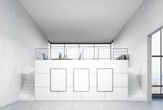 Strutture in bianco in ufficio Fotografia Stock