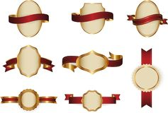 Strutture d'annata decorative e vettore fissato confini Fotografie Stock Libere da Diritti