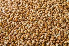 Strutture dai grani crudi del grano saraceno Alimento sano Vista superiore Immagine Stock