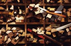 Strutture decorative di legno per le immagini Fotografia Stock