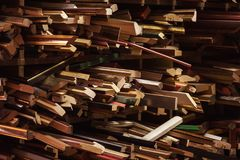 Strutture decorative di legno per le immagini Immagine Stock