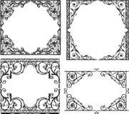 Strutture decorative nello stile di stile Liberty Fotografie Stock
