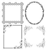 Strutture decorative nere - insieme Immagini Stock Libere da Diritti