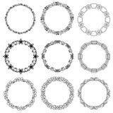 Strutture decorative stabilite del cerchio - etichetta Fotografia Stock