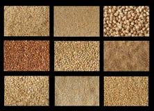 Strutture dei granuli Fotografie Stock Libere da Diritti