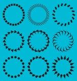 Strutture del cerchio della raccolta di vettore Fotografia Stock Libera da Diritti