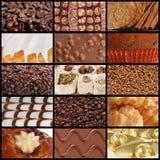 Strutture del cioccolato e dei dolci del caffè Immagine Stock