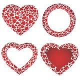 Strutture del cuore messe Fotografia Stock