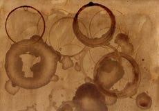 Strutture del fondo della macchia del caffè Fotografia Stock