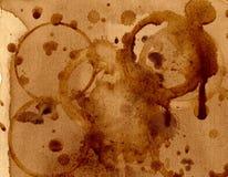 Strutture del fondo della macchia del caffè Fotografie Stock