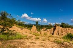 Strutture del suolo di baccano Nanoy, Nan Province, Tailandia del sao fotografie stock