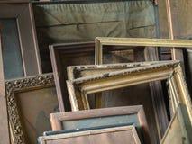 Strutture dell'oggetto d'antiquariato del vecchio oro Fotografie Stock