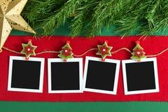 Strutture della foto della polaroid di Natale Fotografie Stock