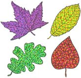 Strutture della natura di vettore con le foglie di autunno del colorfull. Illustrazione Vettoriale
