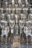 Strutture delle statue della gente del ferro Immagine Stock