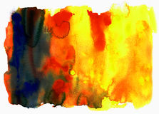 Strutture di colore di acqua Fotografia Stock Libera da Diritti