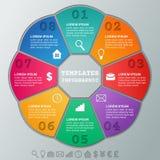 Strutture di Infographics Stanza circolare infographic dei modelli 8 di vettore illustrazione di stock
