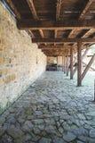 Strutture di legno in fortezza antica Fotografia Stock