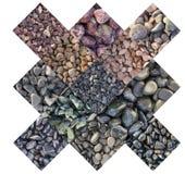 Strutture di marmo di colore, collage delle tessere Immagini Stock
