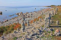 Strutture di pietra in Saaremaa, Estonia Fotografie Stock