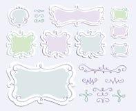 Strutture di scarabocchio messe illustrazione di stock