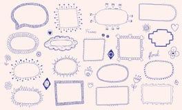 Strutture disegnate a mano illustrazione vettoriale