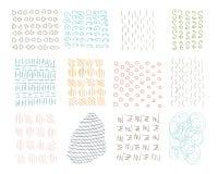 Strutture disegnate a mano dell'inchiostro dei pantaloni a vita bassa del cerchio Retro modelli di turbinio per i manifesti, le a Fotografia Stock