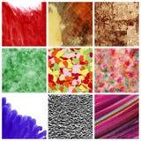 Strutture e collage degli ambiti di provenienza Fotografia Stock