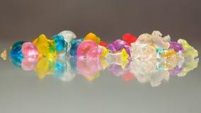 Strutture e modelli astratti delle palle rotte della gelatina Immagine Stock