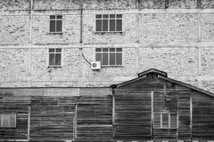 Strutture e modelli di vecchia e nuova parete delle costruzioni Fotografia Stock