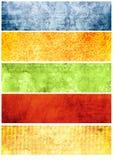 Strutture ed ambiti di provenienza di Grunge per le bandiere Immagine Stock