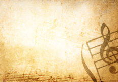 Strutture ed ambiti di provenienza di melodia di Grunge Fotografie Stock Libere da Diritti