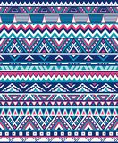 Strutture etniche senza cuciture del modello Stampa geometrica navajo astratta Colori rosa e blu royalty illustrazione gratis