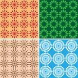 Strutture geometriche luminose senza cuciture Illustrazione di Stock