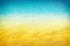 Strutture gialle dell'acqua blu Fotografie Stock Libere da Diritti