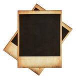 Strutture istantanee d'annata della foto isolate su bianco Immagine Stock
