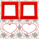 Strutture istanti in bianco della foto con cuore su legno Fotografia Stock Libera da Diritti