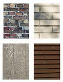 Strutture - legno di metallo del mattone Fotografia Stock Libera da Diritti