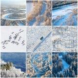 Strutture naturali di inverno, vista superiore Fotografie Stock Libere da Diritti