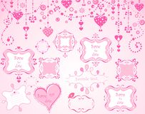 Strutture rosa sveglie Fotografie Stock