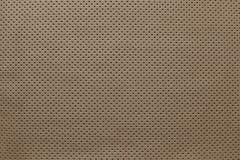 Strutturi il cuoio di colore marrone con il lato esterno Immagine Stock Libera da Diritti