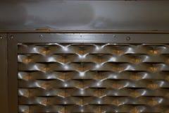 Strutturi il fondo del lerciume, ferro arrugginito con le macchie nere Immagine Stock